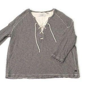 Scotch & Soda • Home Alone Lace Up Sweatshirt